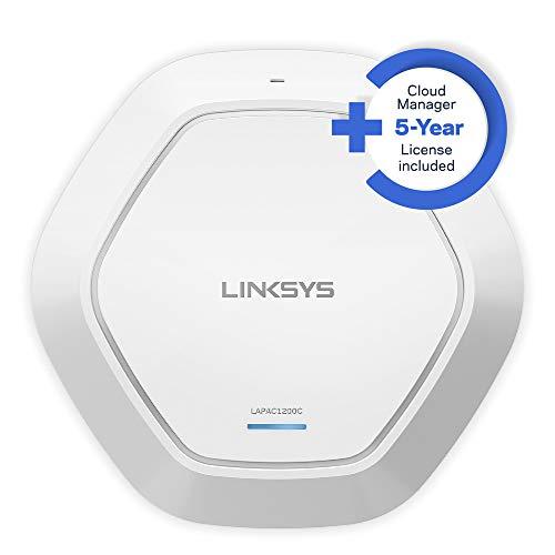Linksys LAPAC1200C-EU - Punto de Acceso Inalámbrico de Doble Banda AC1200 con gestión en la Nube, Blanco