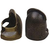 Healifty 1 UNIDS DIY dedal Dedal Dedo Protector Protector de Metal Protector Pin Agujas Tamaño M