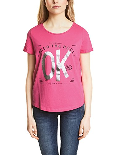 Street One Damen 311909 T-Shirt, Mehrfarbig (Flamingo Pink 31272), 38