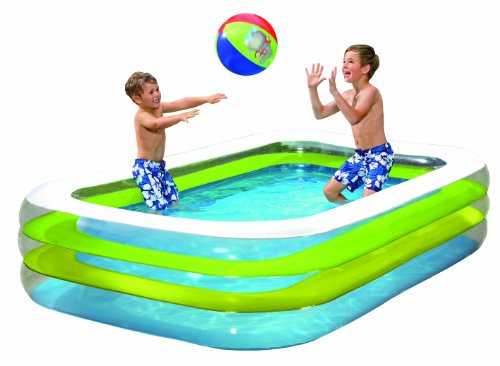 Wehncke 12240 Jumbo Pool 262 x 175 x 56 cm, transparent
