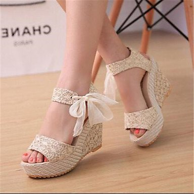 Zormey Damen Sandalen Sommer Mary Jane Pu Casual Keilabsatz US8 / EU39 / UK6 / CN39