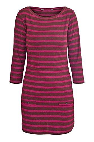 maroon-pink-stripe-tunic-top-dress