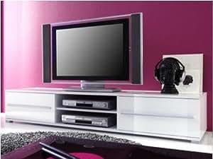 meuble tv design cavalli blanc laqué 175 cm: amazon.fr: cuisine ... - Meuble Tv Design Blanc Laque Cavalli