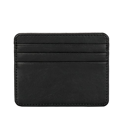 Fine leather credit card holders amazon mens leather wallet credit card case holder unique credit card purse for men black reheart Images