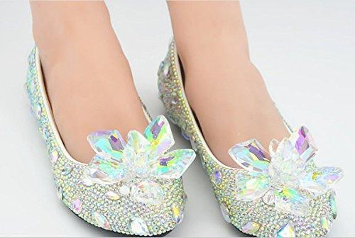 YCMDM Chaussures plates plates Chaussures de banquet Chaussures de tête ronde as picture