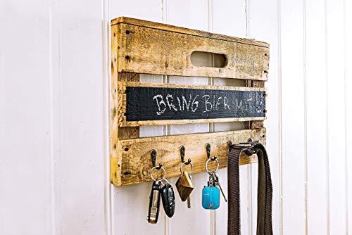 Holz einer Obstkiste mit Tafellack für kleine Kreide-Nachrichten, für Schlüsselanhänger, Leinen, Handtücher, Handmade, Unikat, Upcycling ()