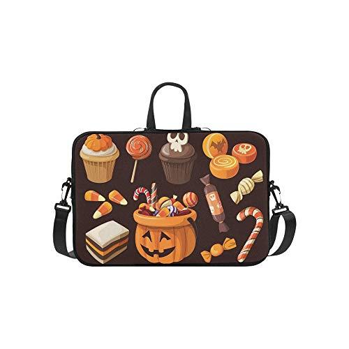 Süßwaren Süßigkeiten Icons Aktentasche Laptoptasche Messenger Schulter Arbeitstasche Crossbody Handtasche für Geschäftsreisen ()