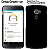 """Case Creation TM BlackBerry DTEK 60 Back Cover,Hard Back Case Cover For BlackBerry DTEK60/BlackBerry DTEK 60 5.2"""" Inch- Pitch Black"""