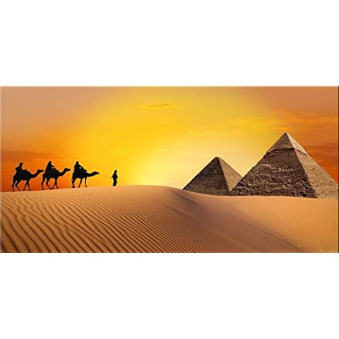 Startonight, luce nel buio Quadro su tela, viaggio sulle piramidi 60 cm x 120 cm