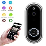 Video Doorbell Kamera, WiFi Smart Wireless Digital Video Doorbell, 720P/1080P HD Security Camera Real-Time Video Two-Way Audio Night Vision, für IOS Android,Silver