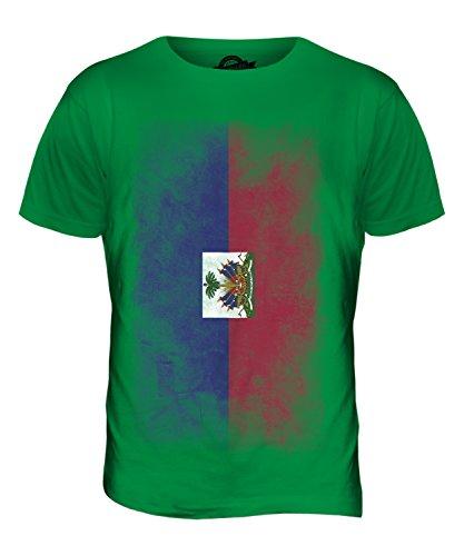 CandyMix Haiti Verblichen Flagge Herren T Shirt Grün