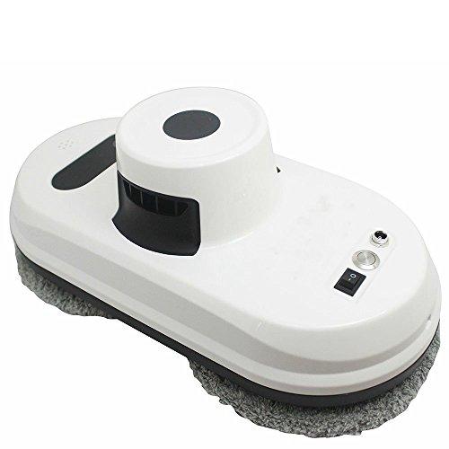 NBZH Window Cleaner Robot, Framed Window Robot Magnetic Cleaner, Control Remoto Inteligente Totalmente Automático, Velocidad De Limpieza De Ultra Alta Velocidad 3 Minutos Metros Cuadrados,White