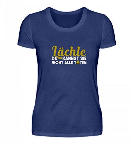 Kleidungskulisse Hochwertiges Damen Organic Shirt - Lächle Du Kannst Sie Nicht Alle Töten Witziges Design mit Lustigem Spruch Humor (Tote Überall)
