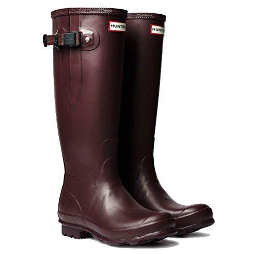 Hunter Field Norris Side Adjustable Ladies Wellington Boot Bordeaux