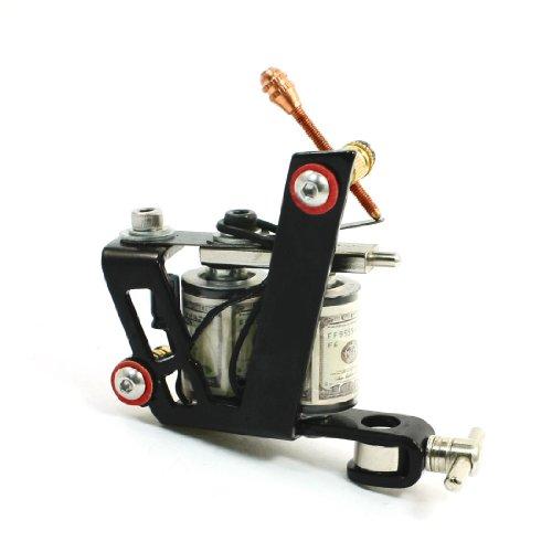 Noir Spray Cadre Fer De Fonte Linéaire Machine Tatouage Pistolet Bobine 10 Emballages