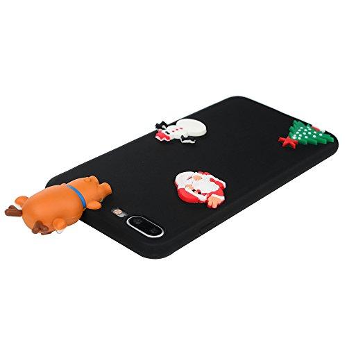 iPhone 7 Plus / iPhone 8 Plus Coque Mavis's Diary Étui Housse TPU Silicone Gel Coque de Protection Phone Case Cover Antichoc 3D Protection écran 5.5'' pour iPhone 7 Plus / iPhone 8 Plus Ultra Fine Lég Noël 6