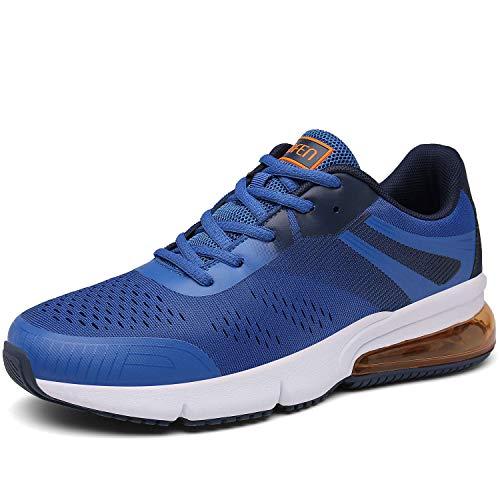 SOLLOMENSI Uomo Donna Scarpe da Corsa Ginnastica Sportive Running Fitness Sneakers Traspiranti Outdoor Respirabile Mesh Casual 43 EU C Blue