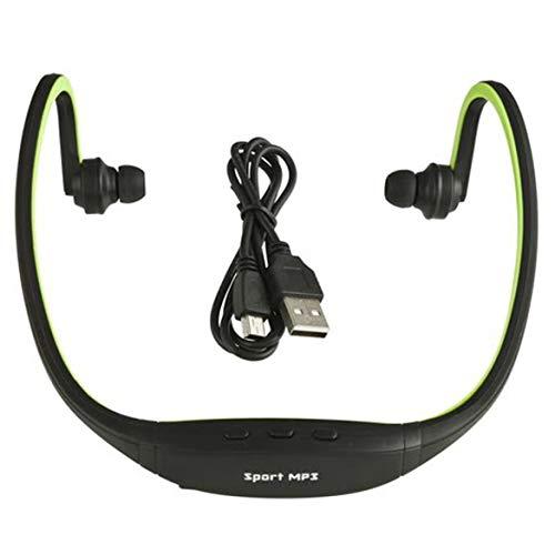 USB Sport Running MP3 Lettore musicale Cuffie Auricolari Cuffie Slot TF (Colore: verde)
