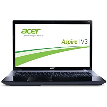 Acer Aspire V3-771G-53234G50MAII 43,9 cm (17,3 Zoll) Notebook (Intel Core i5 3230M, 2,6GHz, 4GB RAM, 500GB HDD, NVIDIA GT 740M, DVD, Win 8) schwarz