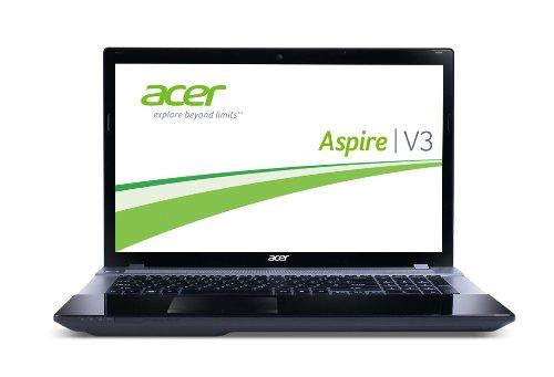 Acer Aspire V3-772G-54204G75Makk 43,9cm (17,3 Zoll) Notebook (Intel Core i5 4200M, 2,5GHz, 4GB RAM, 750GB HDD, NVIDIA GF GTX 760M, Win 8) schwarz
