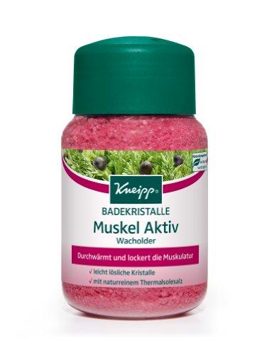 Kneipp Badekristalle Muskel Aktiv Wacholder, 1er Pack (1 x 500 g)