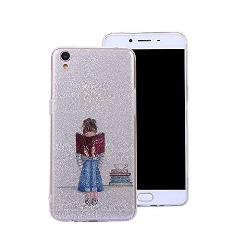 Ecoway Oppo R9 Case Cover, Coque de téléphone IMD Silicone Housse en silicone Housse de protection Housse pour téléphone portable pour Oppo R9 - Art