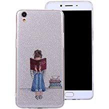 Ecoway Oppo R9 Case Cover, IMD Anti-scratch shockproof Fashion Case Protective Cover Cell Phone Case for Oppo R9 - Art girl