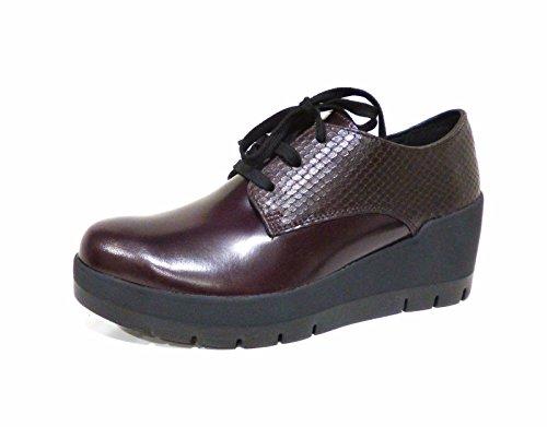Stonefly SecondSkin Frozen 4 scarpe donna francesine bordò stringate con zeppa n° 35