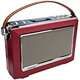 GOODMANS Vintage Style Digital Radio with Bluetooth - Berry Red