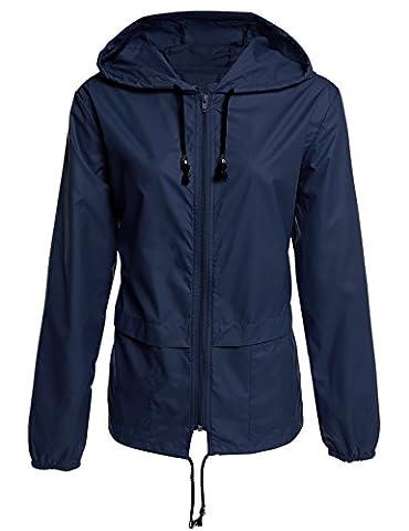 ZEARO Damen Winddicht Wasserdicht Sonnenschutz Anti-UV Jacke Regenjacke Atmungsaktiv Leicht Kapuze Zip Mantel