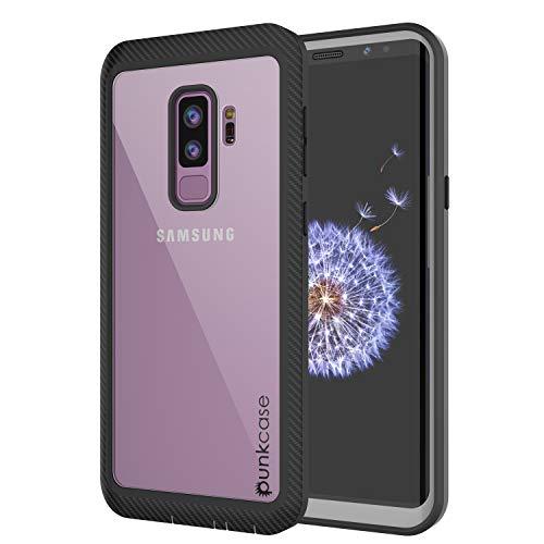 PunkCase Galaxy S9 Plus Hülle, [Spartan-Serie] Rugged Armor Cover mit eingebautem Displayschutz [Kickstand] kompatibel mit Samsung Galaxy S9 Plus, schwarz Otterbox Armor Serie