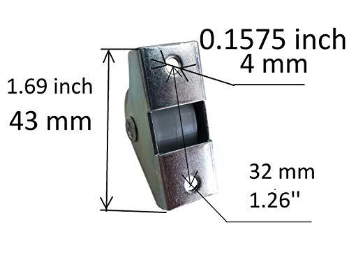 41sL%2BgcJGgL - Rueda de goma de 25 mm de plástico giratoria doble ruedas metálicas con placa muebles electrodomésticos y equipo pequeño mini ruedas Set de 8pcs