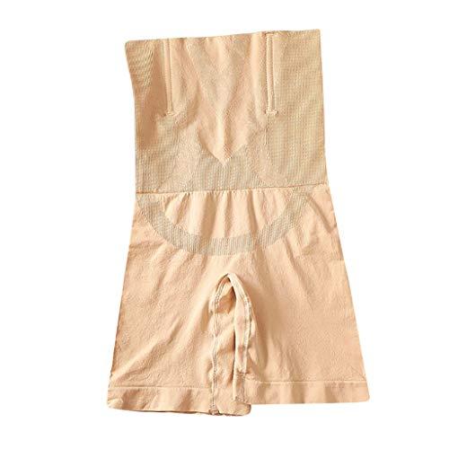 Frauen Shapewear Shorts Brilliance Höschen mit hoher Taille Mitte Oberschenkel Body Shaper Bodysui Maloom Bauchhosen Abnehmen Hüften Bauchformung Hosen Formung Postpartale Bauch Hautfarbe XS/S -