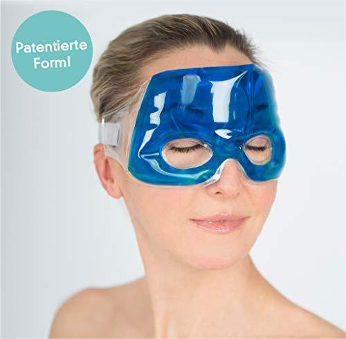 Travelstar Premium Augenmaske für Kälte- & Wärmetherapie bei Migräne & Kopfschmerzen inkl. Kühlkissen (TS-C-2000) -