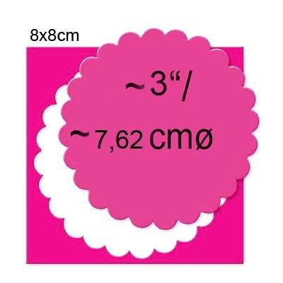 EFCO Kreis gezahnt, Pink, 75mm