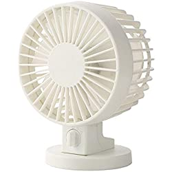 xinrongqu Ventilateur Duplex Portable Mini USB Fan Blanc
