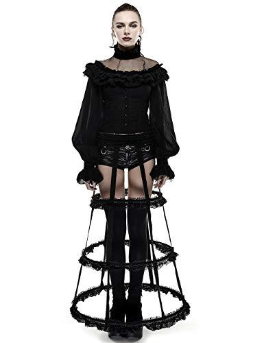 Kostüm Rock Punk Vampir - Punk Rave Damen Schwarz Gothic Sexy Nette Spitze Cosplay Party Rock