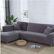 ttcc housse de canap lastique paississement salon1 morceau simple solide couleur anti ensabotage - Couvre Canape