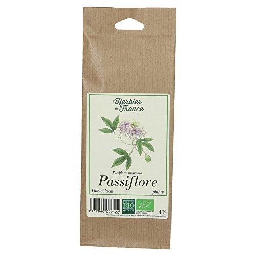 L'Herbier de France Passiflore Plante Bio Sachet Kraft 40 g