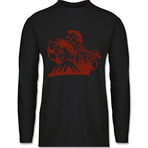 Handwerk - Friseur - Longsleeve / langärmeliges T-Shirt für Herren Schwarz