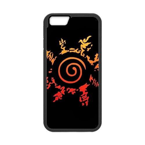 """iPhone 6(4,7""""), Apple iPhone 6/iPhone 6S Housse Case Cover Case-Anime Naruto TPU Étui Coque de Protection pour iPhone 66S (Blanc/Noir)"""