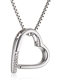 Hot Diamonds - Collana da Donna con diamante (0,01 ct) in Argento Sterling 925, 45 cm