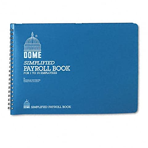 Simplified Payroll Record, Light Blue Vinyl Cover, 7 1/2 x 10 1/2 (Form Dome)