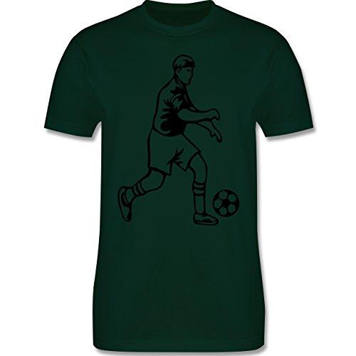 Fußball - Fußball - Herren Premium T-Shirt Dunkelgrün