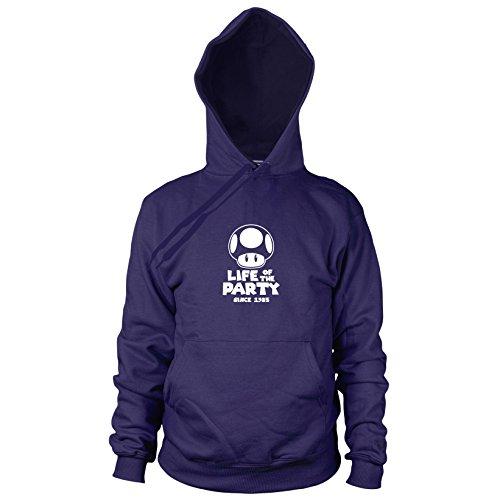 Preisvergleich Produktbild Party Pilz - Herren Hooded Sweater,  Größe: S,  dunkelblau