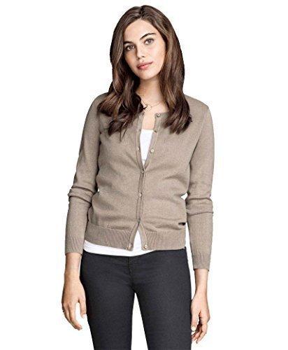 donna-fine-cardigan-lavorato-a-maglia-donna-girocollo-top-manica-lunga-ex-hm-chiaro-color-moca-l