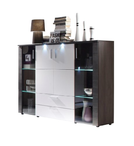 trendteam smart living Wohnzimmer Highboard Schrank Xpress