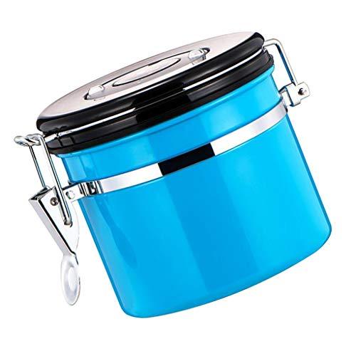 F Fityle Kaffeedose, Kaffeebehälter Edelstahl Vorratsdose, viele Farbe Auswahl - Blau