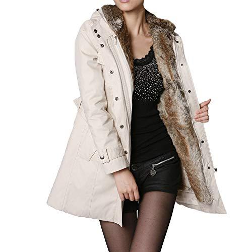 beautyjourney Cappotto Donna Elegante Pelliccia Faux Giacca Donna ... d9e5b015754