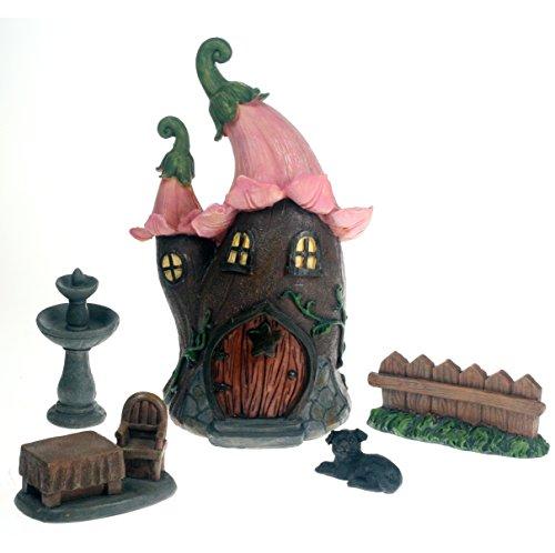 Fairy Lily Cottage 5teiliges Set für Feen, Elfen und Zwerge